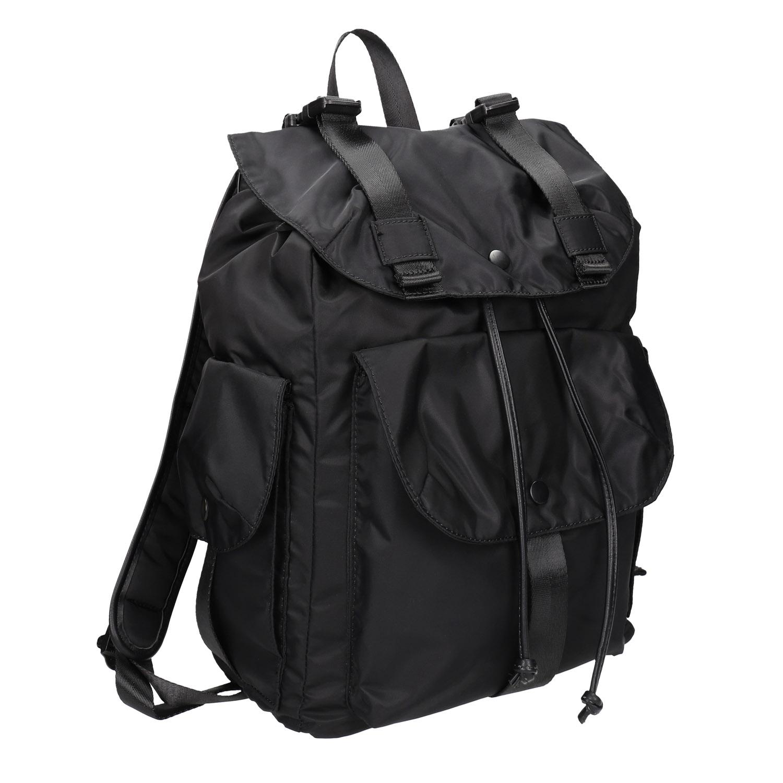 Czarny plecak zkieszeniami - 9696163