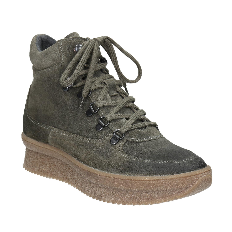Dámská kožená obuv na flatformě