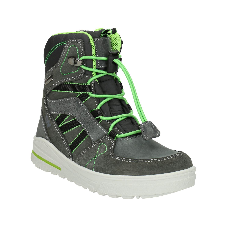 Zimowe buty dziecięce ze skóry - 4932613