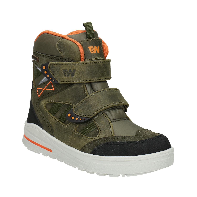 Zimowe buty dziecięce ze skóry - 4937612