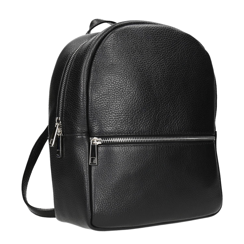 db43b1a6b9e Kožený černý batoh