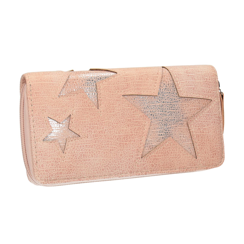 Růžová peněženka s hvězdami