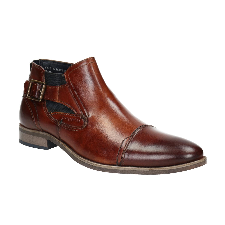 Kožená kotníčková obuv s přezkou