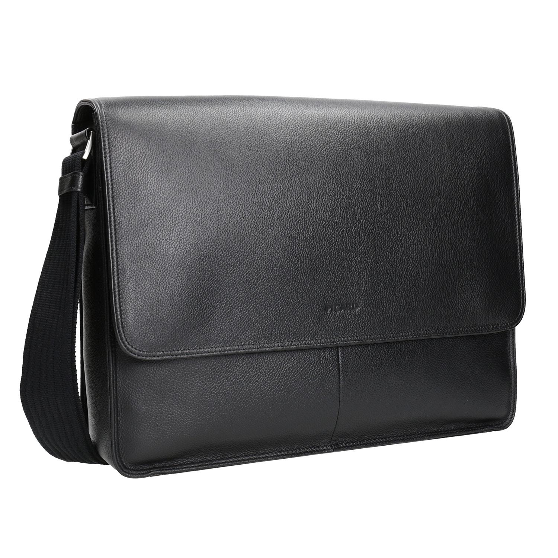 Kožená taška s klopou