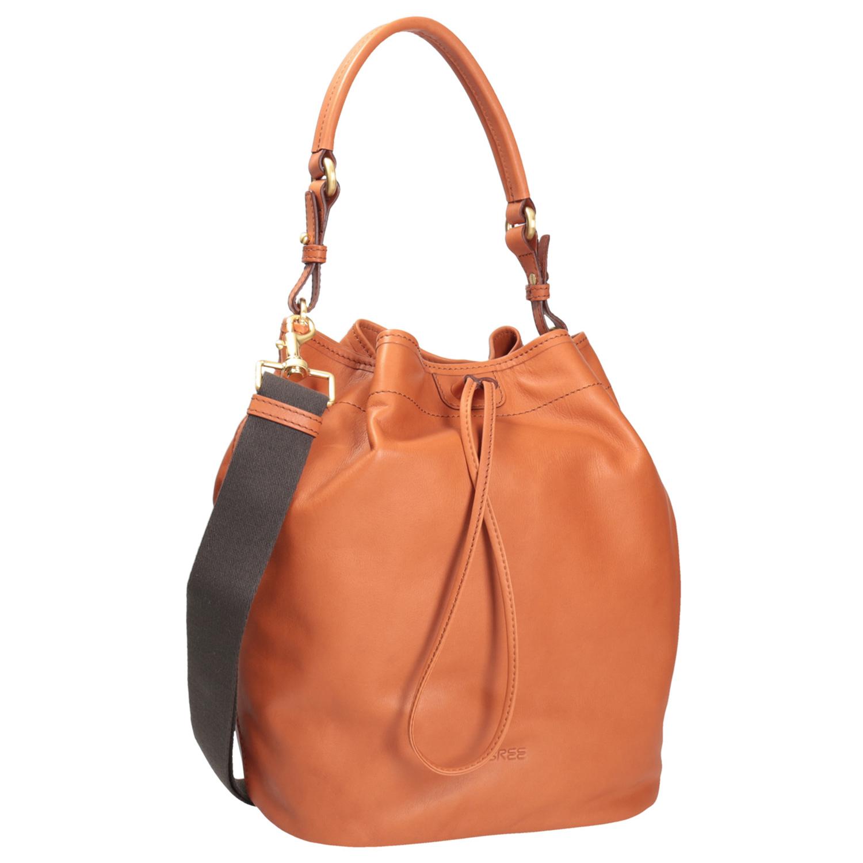Kožená kabelka ve stylu Bucket Bag