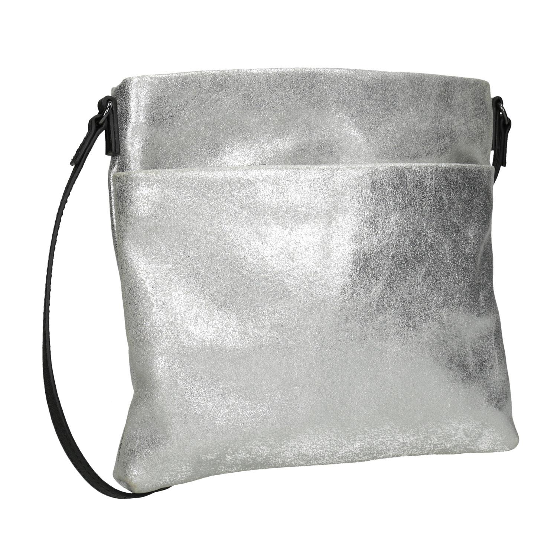 Stříbrná kožená Crossbody kabelka