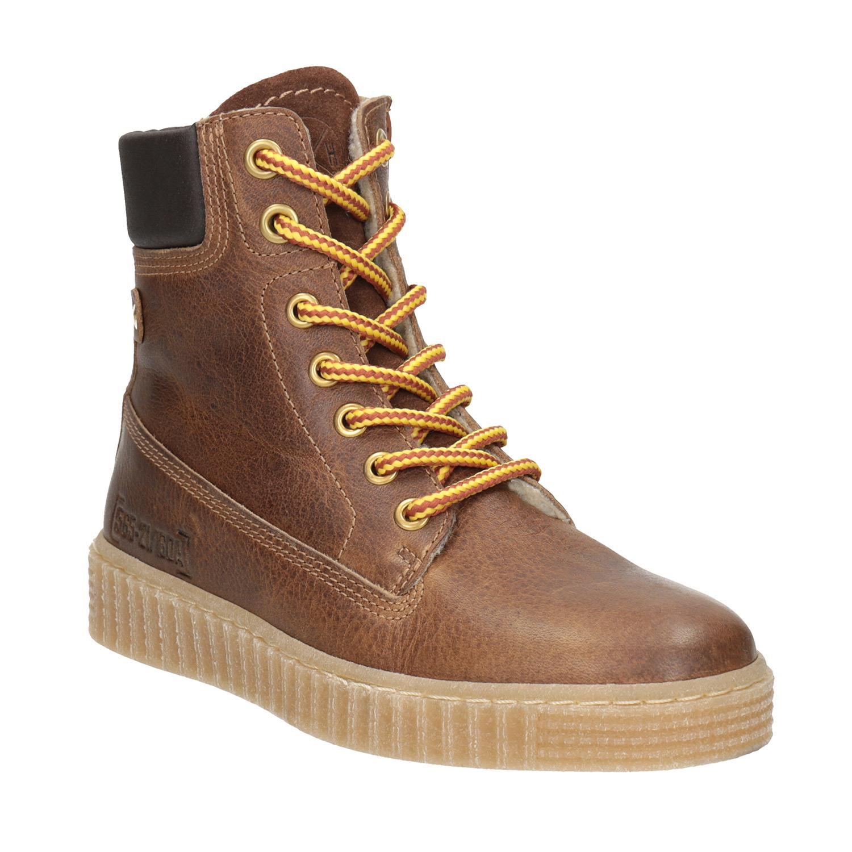 Hnědá dětská zimní obuv
