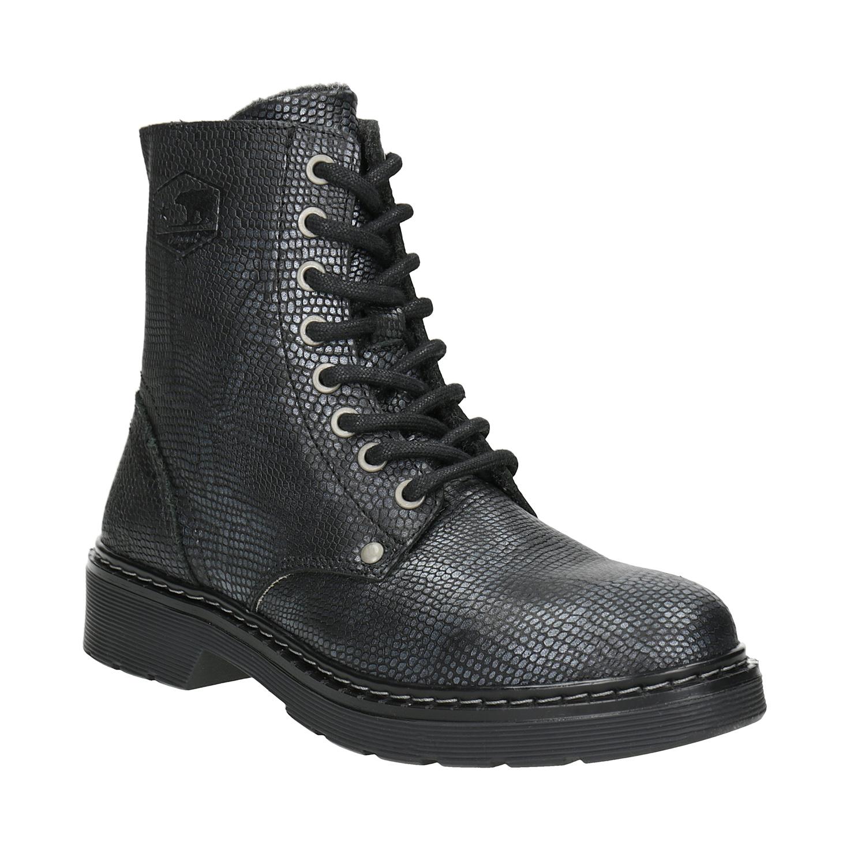Dětské kožené šněrovací boty
