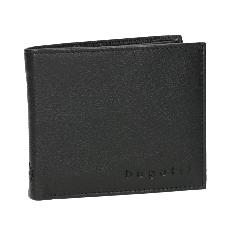 Czarny skórzany portfel - 9446050