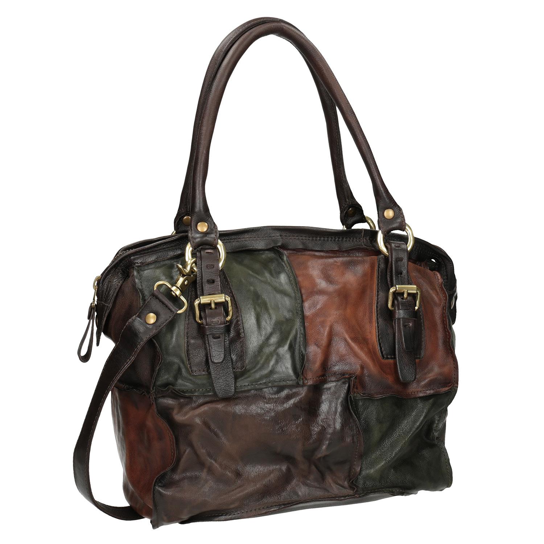 Skórzana torba patchworkowa - 9660062