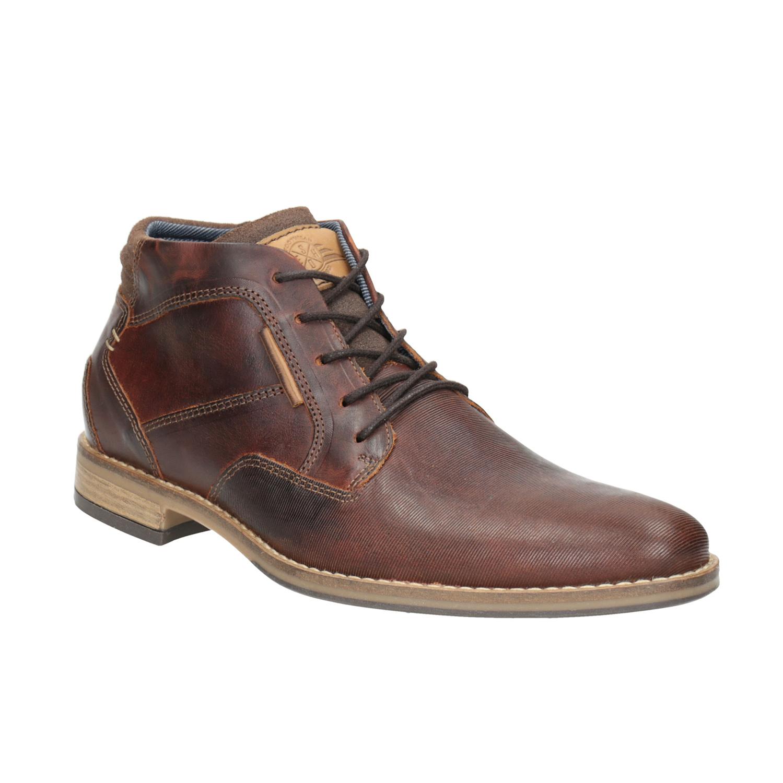 Skórzane buty męskie za kostkę - 8263926