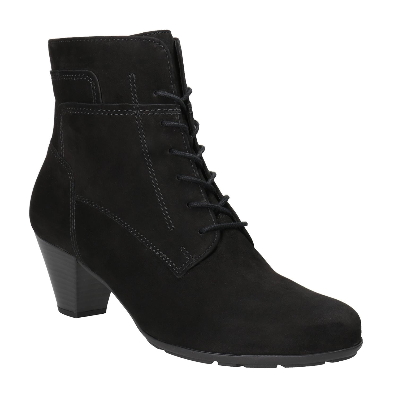 Sznurowane buty ze skóry za kostkę - 7266120