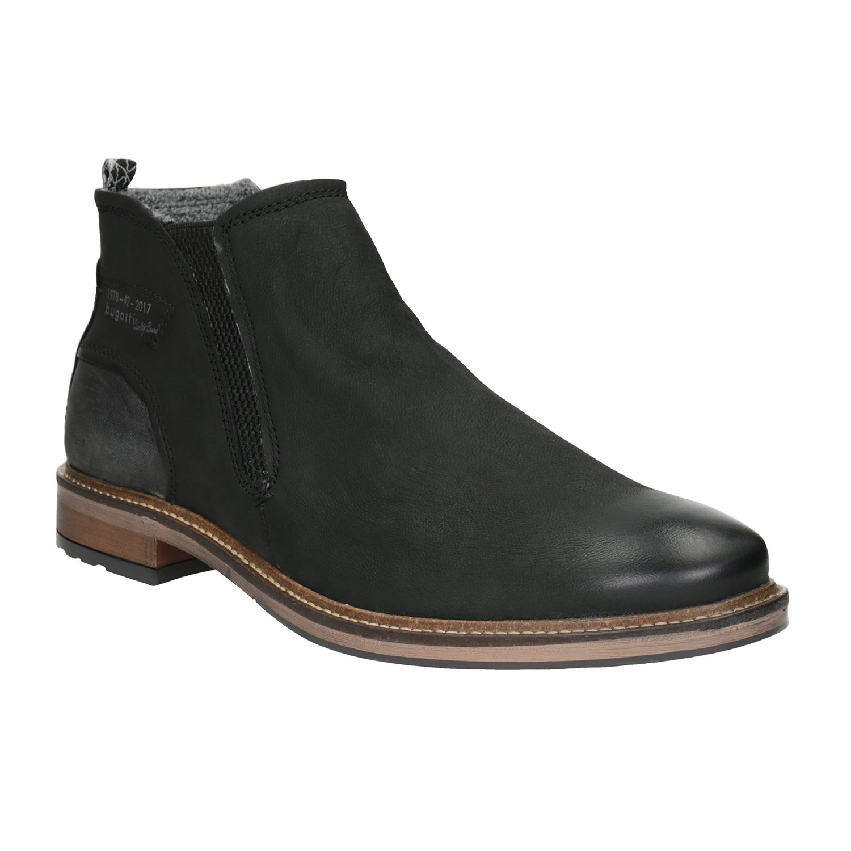 Kožená kotníčková obuv pánská