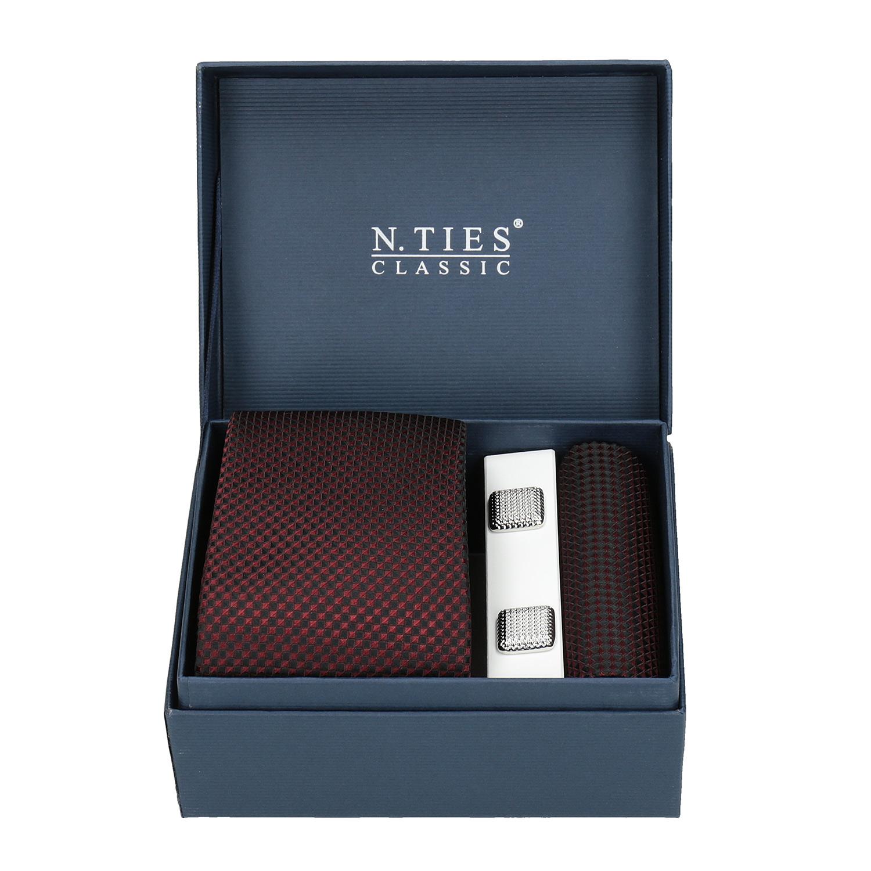 Sada kravaty, kapesníčku a manžetových knoflíčků