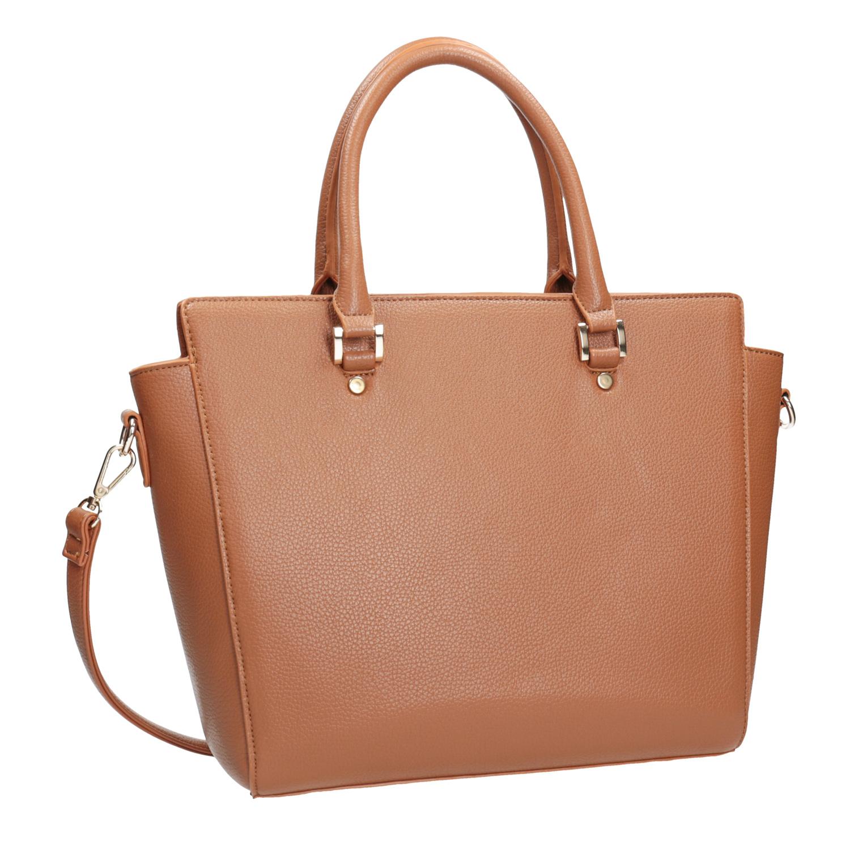 Brązowa torba zodpinanym paskiem - 9613845