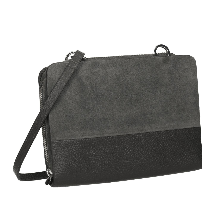 Skórzana torebka damska typu crossbody - 9632050