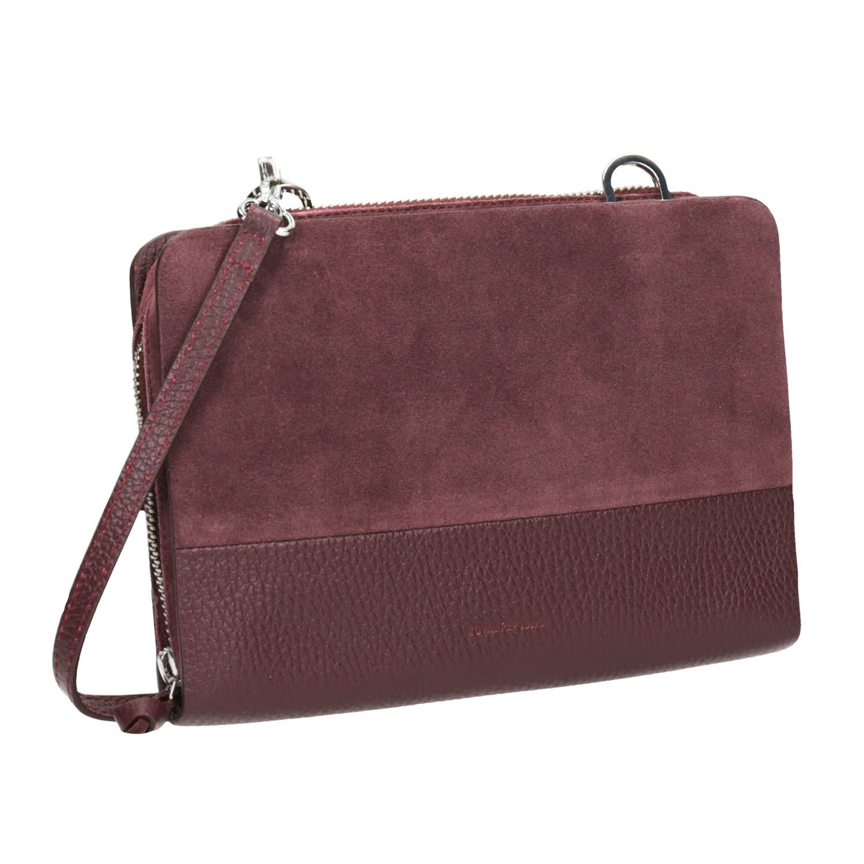 Kožená červená Crossbody kabelka