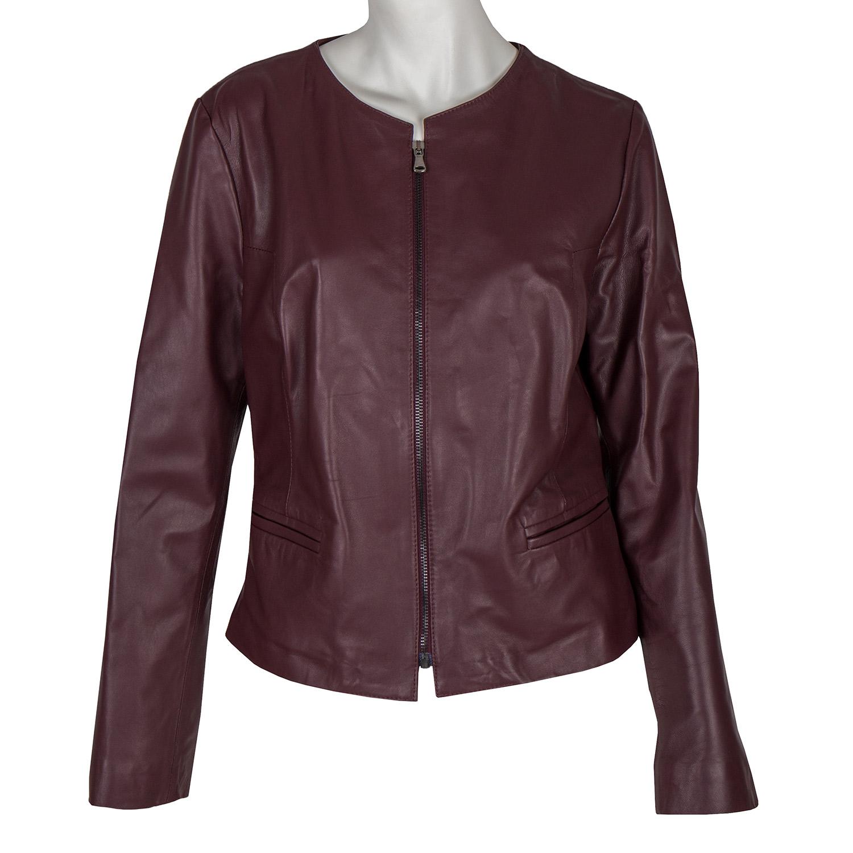 Kožená dámská bunda
