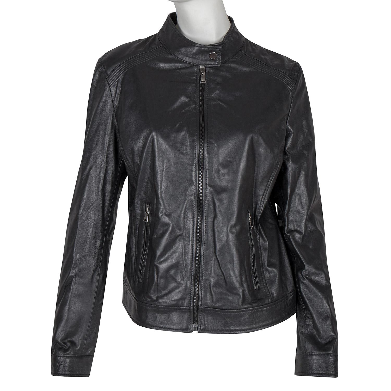 Černá kožená bunda