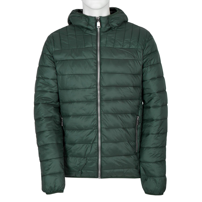 Pánská prošívaná bunda s kapucí