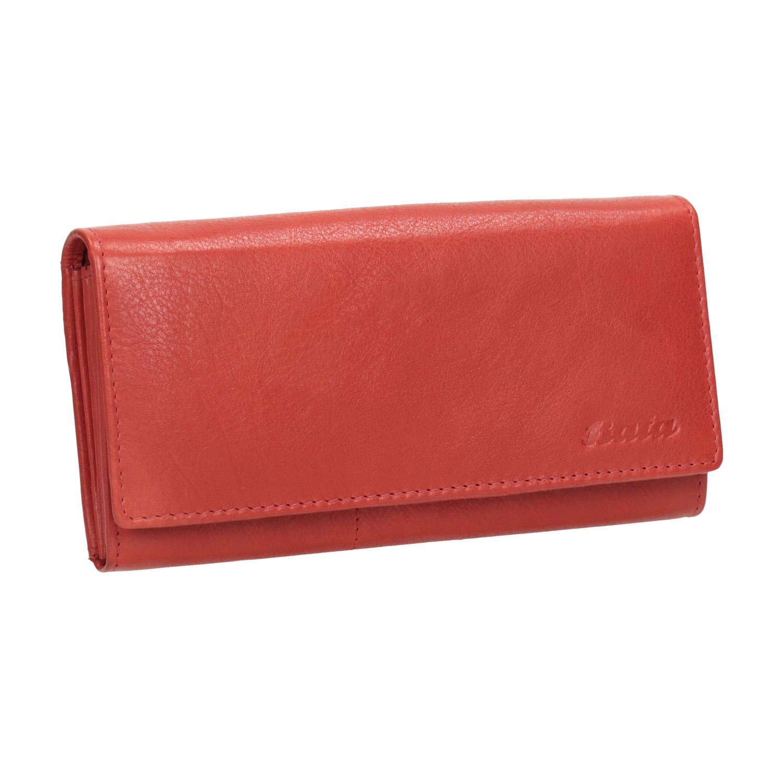 Dámská červená peněženka z kůže
