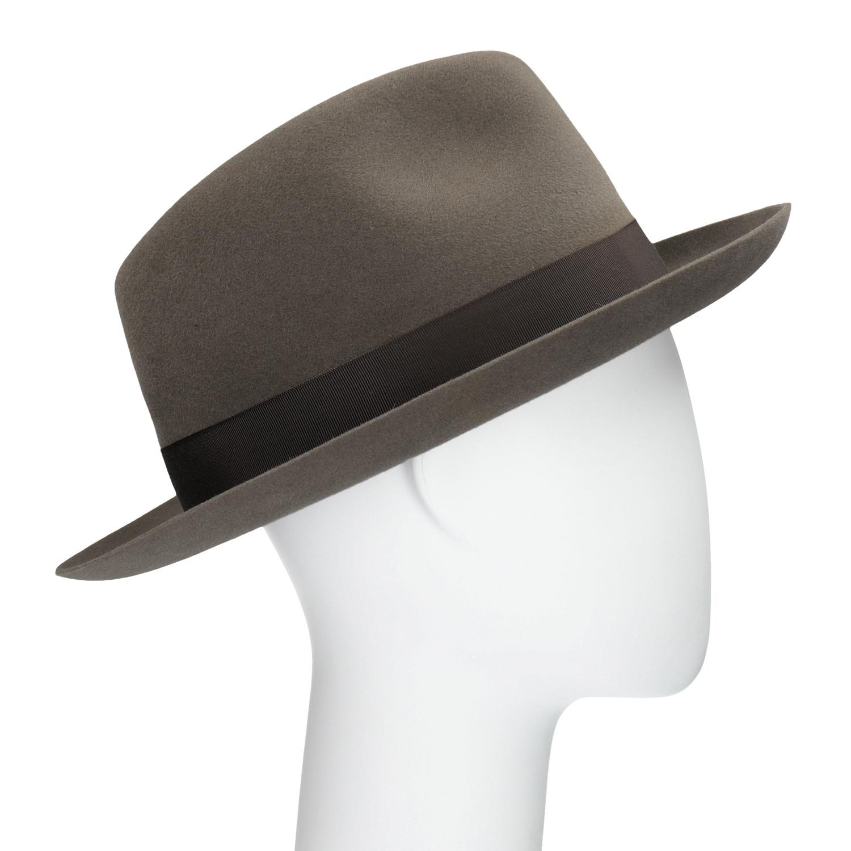 Pánský hnědý klobouk s mašlí