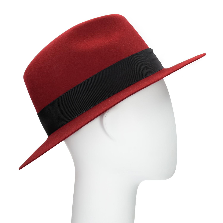 Červený klobouk z králičí srsti