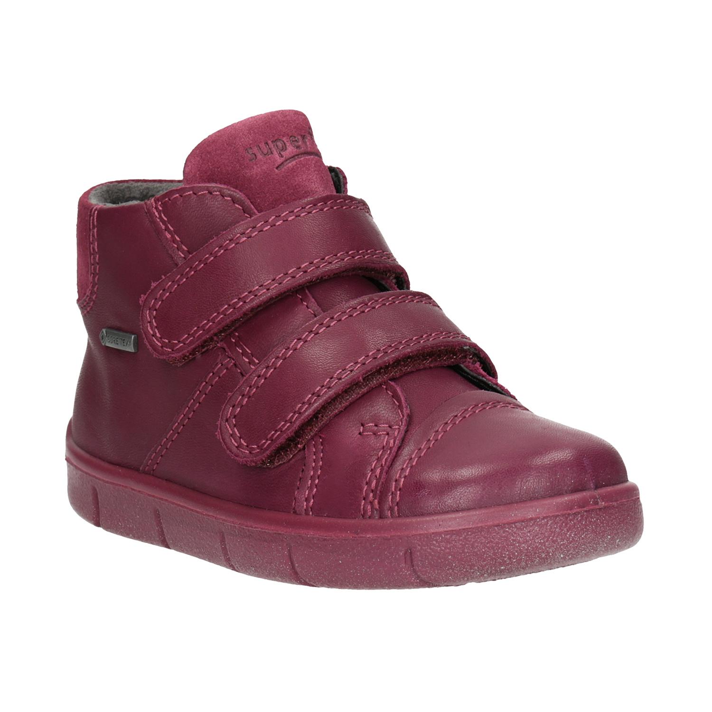 Kotníčková kožená dětská obuv