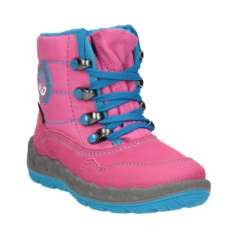 Růžová dívčí zimní obuv