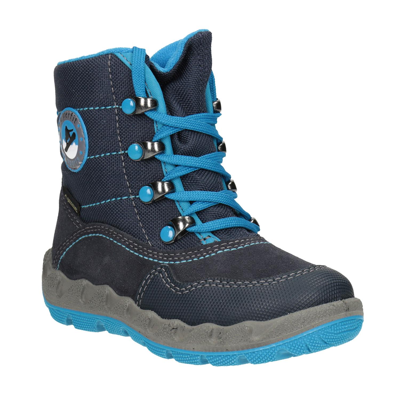 Modrá dětská zimní obuv