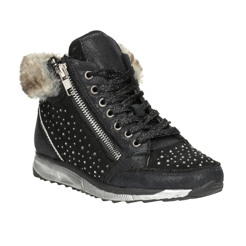 Dětská zimní obuv s kamínky
