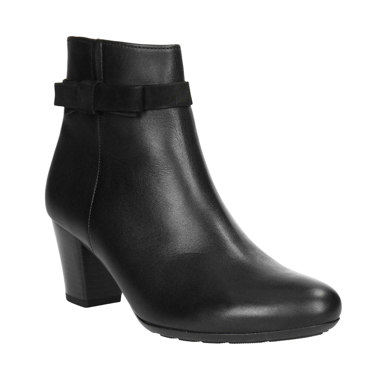 Kožená kotníčková obuv s mašlí