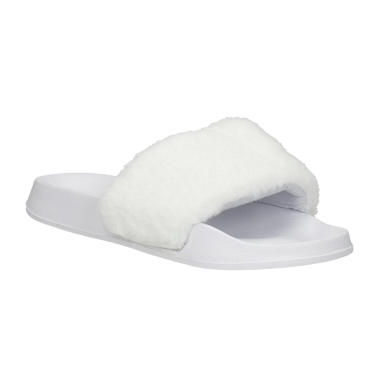 Białe kapcie damskie - 5791624