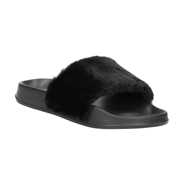 Czarne kapcie damskie - 5796624