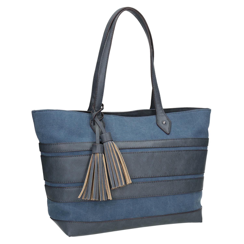 Modrá dámská kabelka se střapci