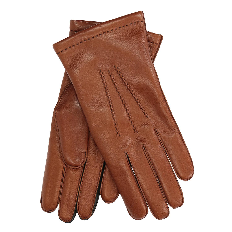 Pánské kožené rukavice hnědé