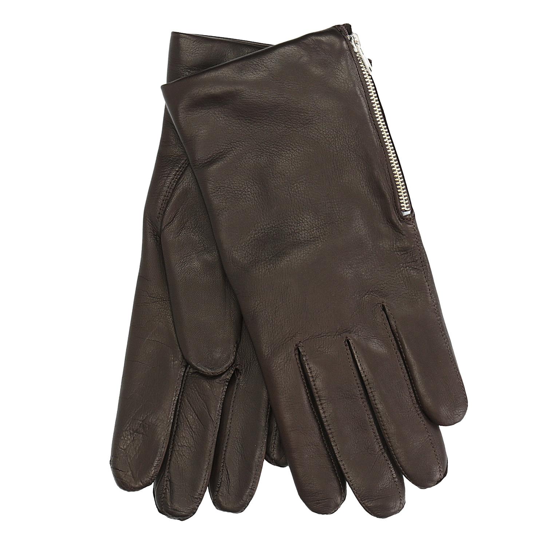 Pánské kožené rukavice se zipem