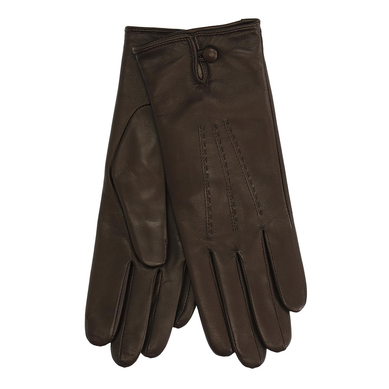 Dámské kožené rukavice hnědé
