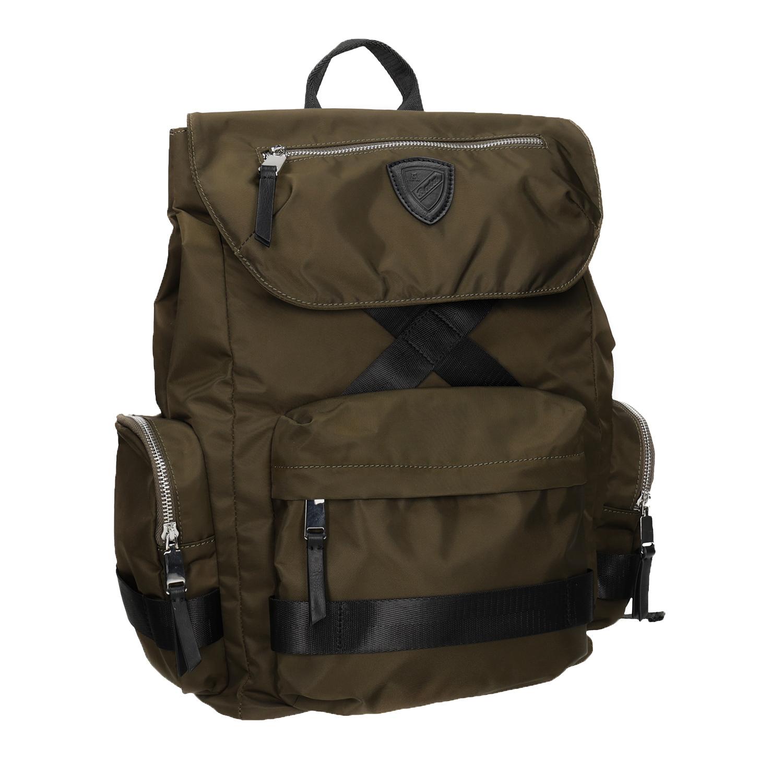 Plecak męski zmateriału tekstylnego wkolorze khaki - 9693677