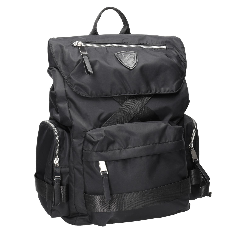 Czarny plecak męski zmateriału tekstylnego - 9696677