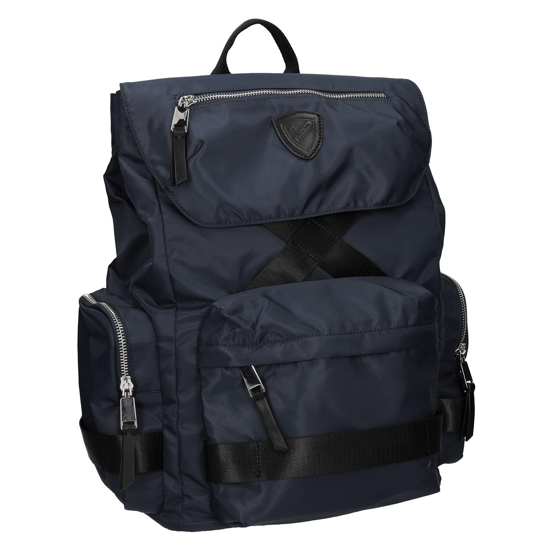 Niebieski plecak męski zmateriału tekstylnego - 9699677
