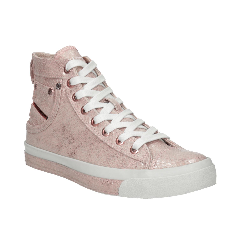 Růžové dámské kotníčkové tenisky