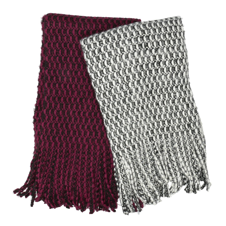 Teplá pletená šála
