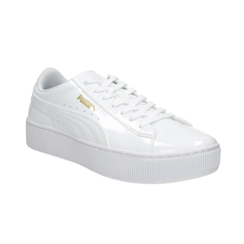 Bílé dámské tenisky na flatformě 01361f7872