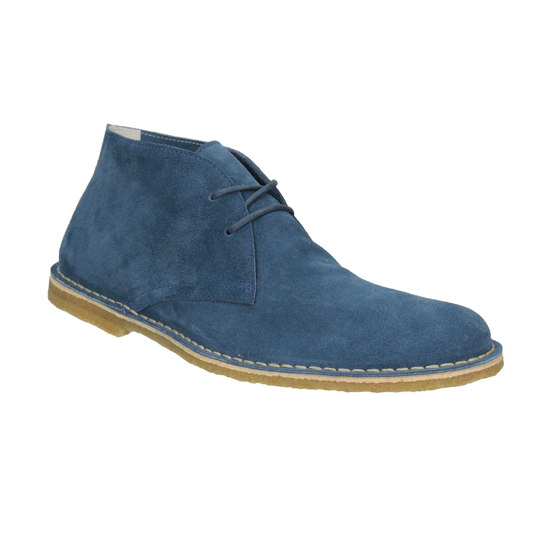 Modré kožené Desert Boots