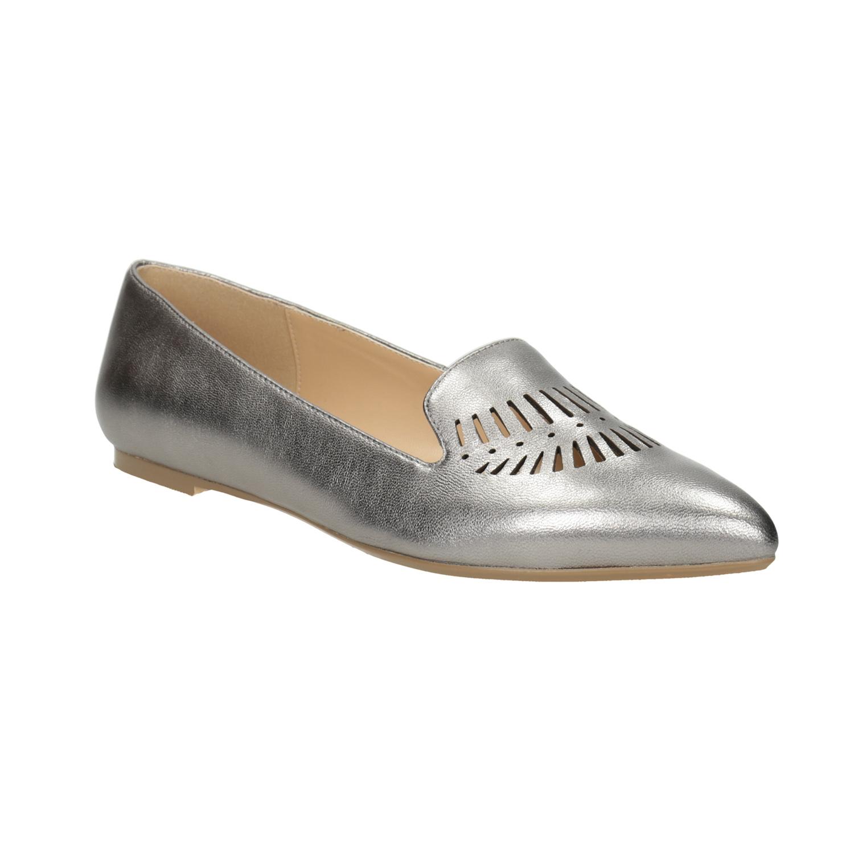 Dámská kožená obuv s perforací