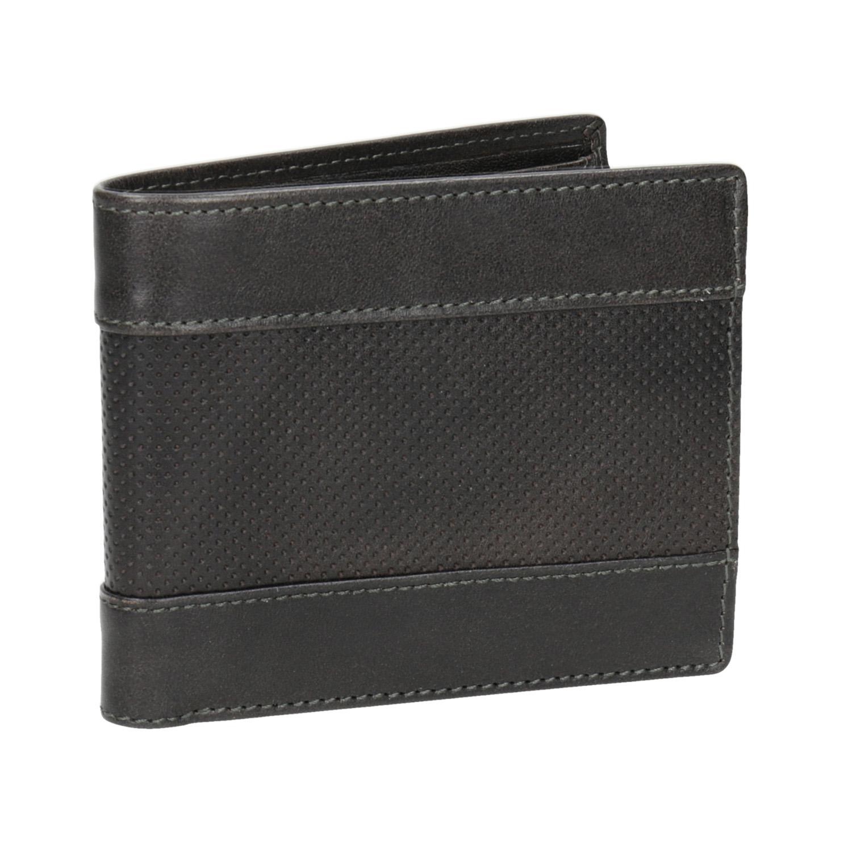 Skórzany portfel męski zperforacją - 9442192