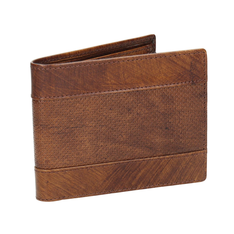 Skórzany portfel męski zperforacją - 9443192