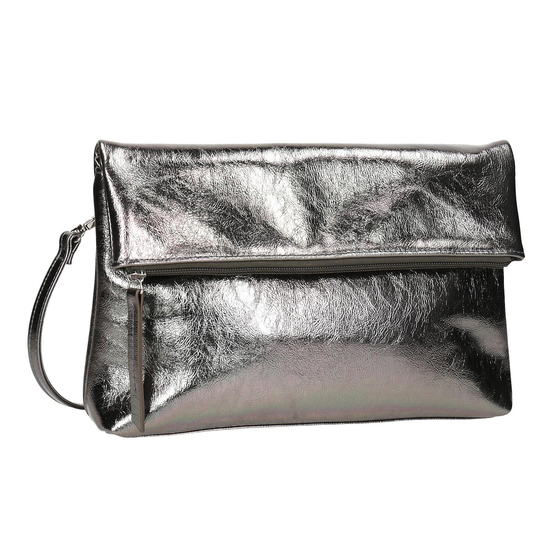 Stříbrná dámská Crossbody kabelka