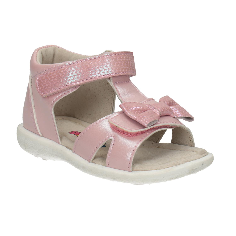Dětské růžové sandály s mašličkou